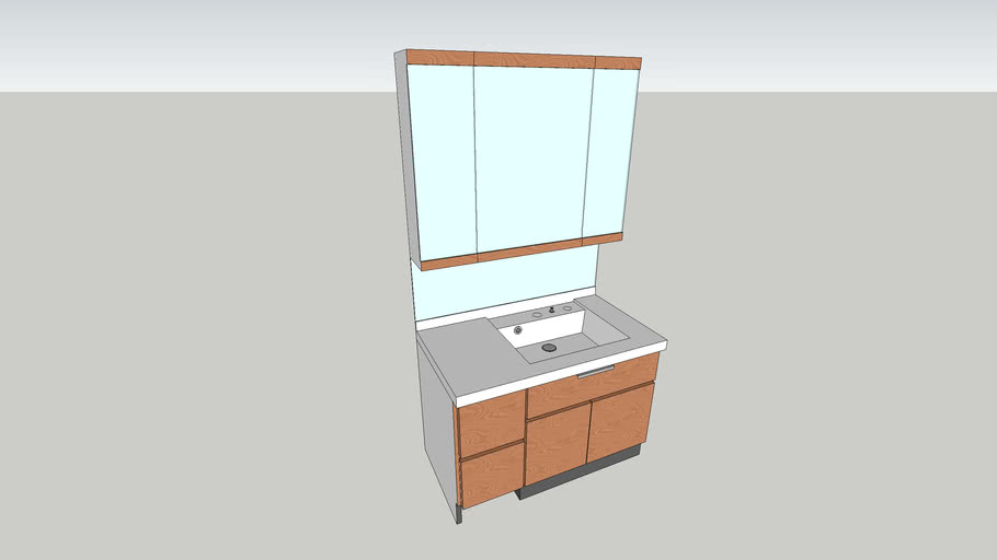 vanity washbowl and cabinet
