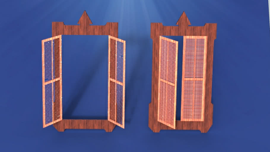 Window Shutter blinds shade jalousie Pencere Panjur Wood Classical Old