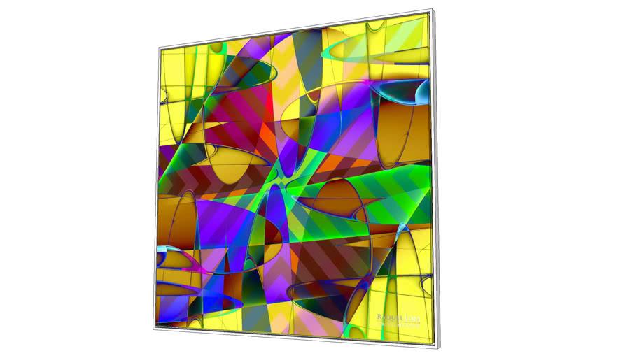 Painel Colores - Série Abstract - Raquel Lima - 1,20m x 1,20m