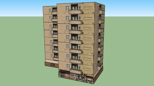Zgrada kod parka u Pancevu