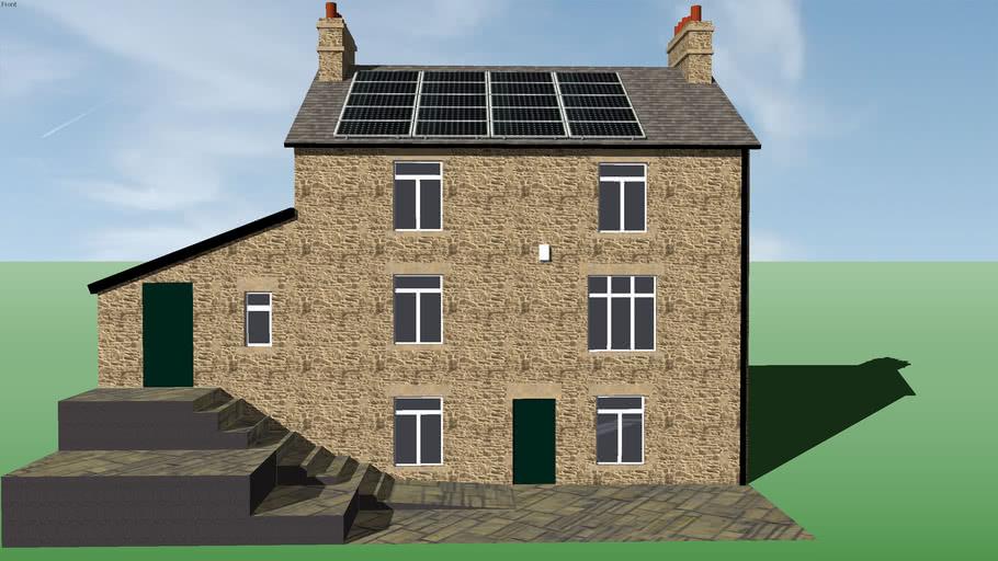 20x Phono Solar on Large Stone House