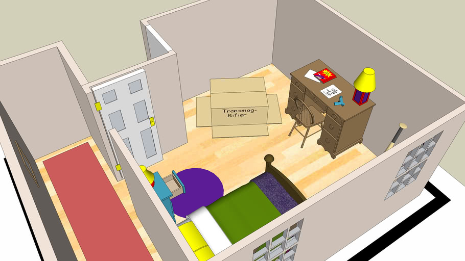 Calvin and Hobbes Bedroom   3D Warehouse