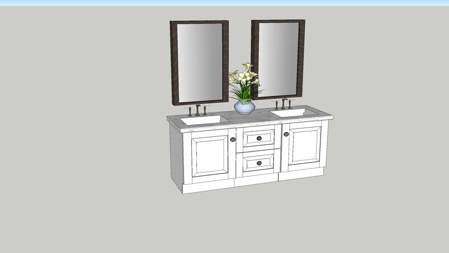 Bathroom Vanity 3d Warehouse, Bathroom Cabinet Warehouse