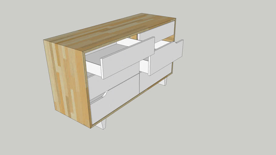 IKEA Mandal Drawer with 6 Chests
