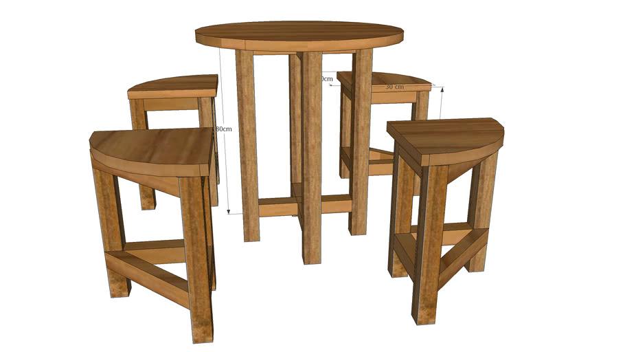 meja kursi set mini cafe