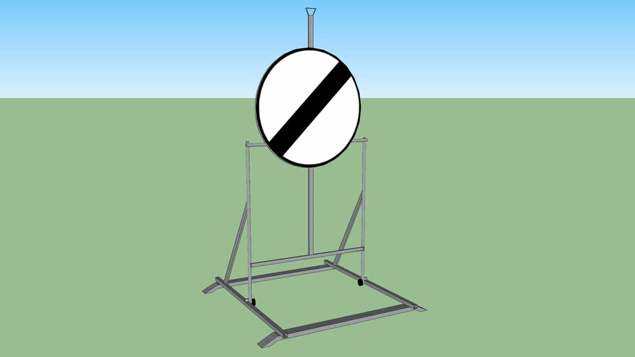 Support temporaire de signalisation