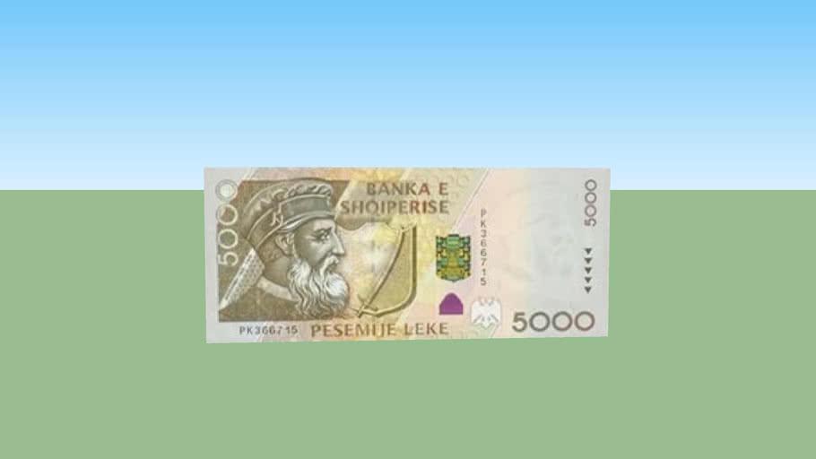 Five thousand lekë - 5000 lek