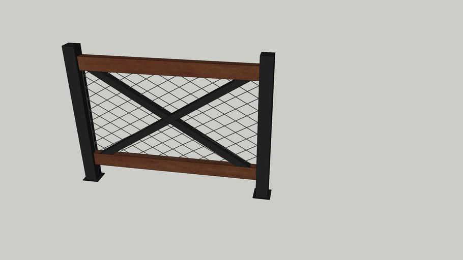 wood metal railing