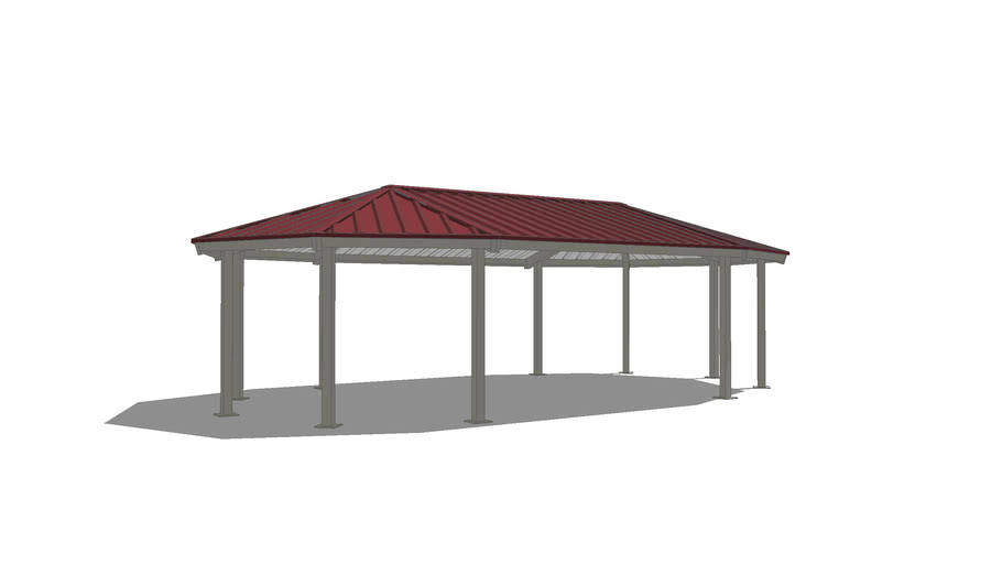 Octagonal - 36' x 20' - Stretched