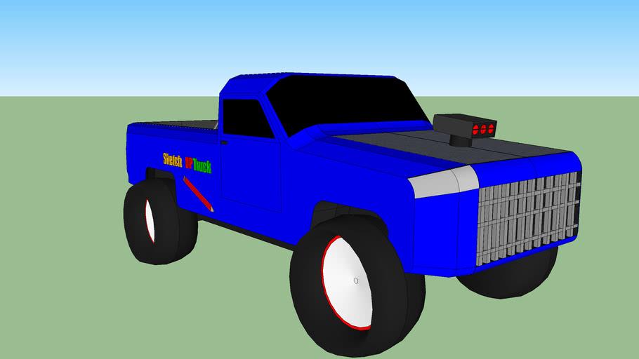 monster truck sketch up truck
