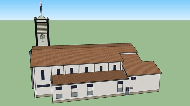Modelo 3D da Igreja Paroquial das Matas