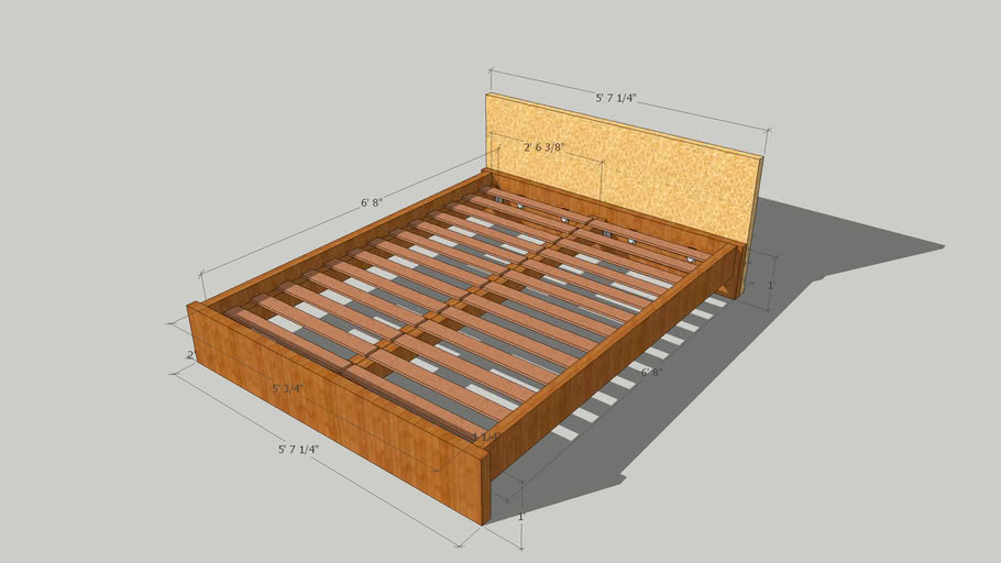 DIY Euro Style Queen Size Bed Design