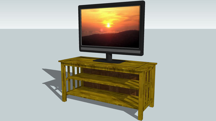 Television Stand Cabinet With Backing The Hotel Collection 3d Warehouse