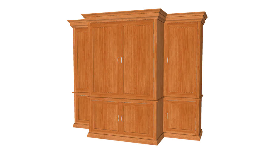Entertainment Center Closed Cabinet - Detailed
