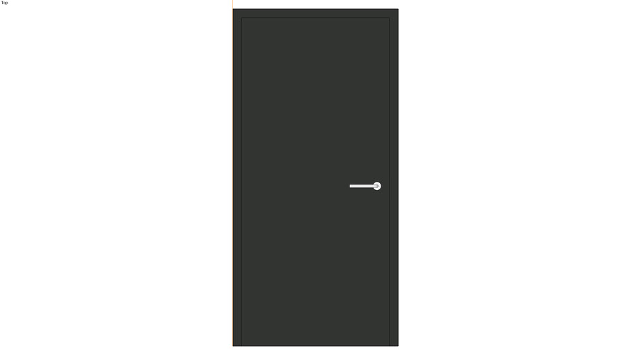 Door size 2000x900 mm. with solid panel , lever