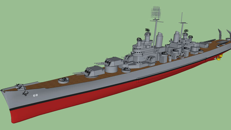 USS CA-68 Baltimore class heavy cruiser / ボルチモア級重巡洋艦 ...