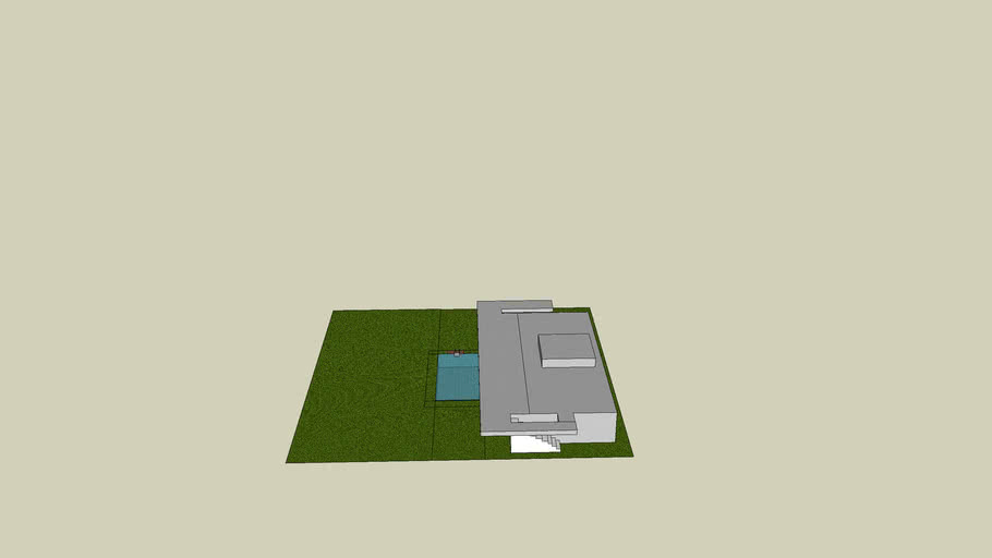 swimming pool ( unmaned ) with house