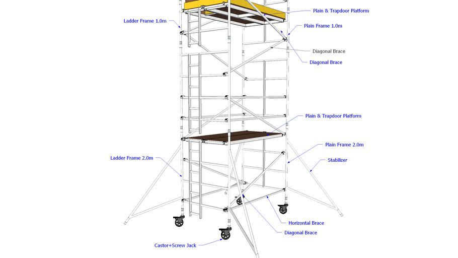 ALUMINIUM TOWER SCAFFOLDING TOWER
