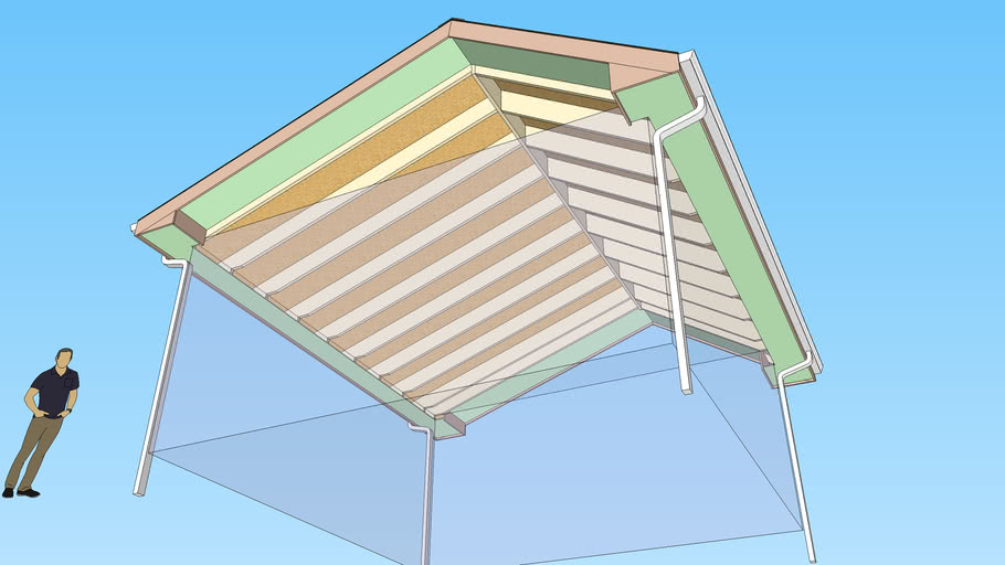 Soffit and Fascia - Gable Rafter Roof