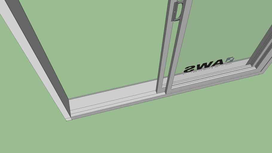 Sliding glass door 2000Wx2400Hx200D