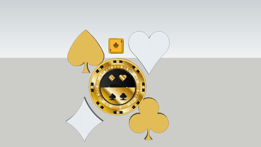 撲克圖案裝飾      Poker pattern decoration    賭場裝飾  Casino decoration