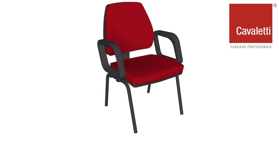 Cadeira Fixa com Braços Pro 38007 P - Cavaletti