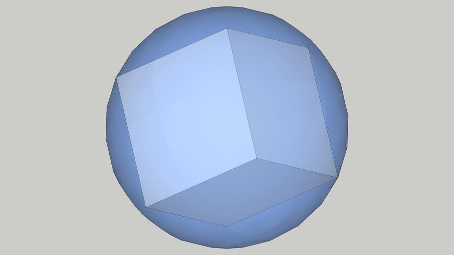 正六面体に外接する球