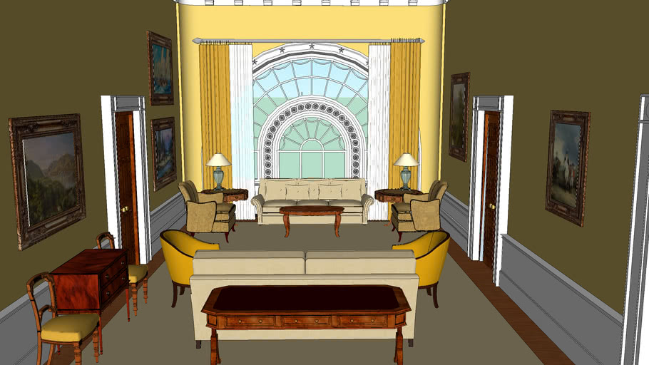 The White House Interior : The West Sitting Hall.