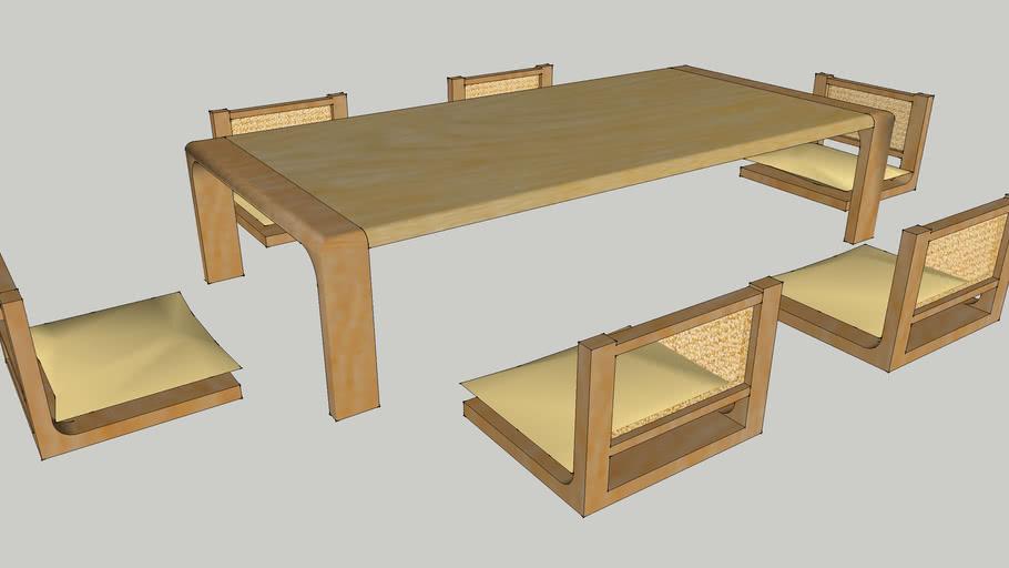Japanese Dining Furniture Set