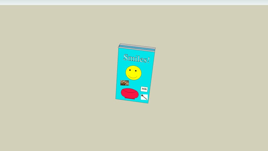 smiles cereal box