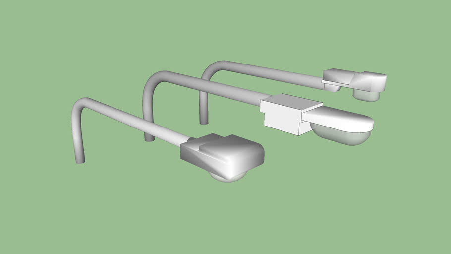 Set de luminarias con poste provisorio