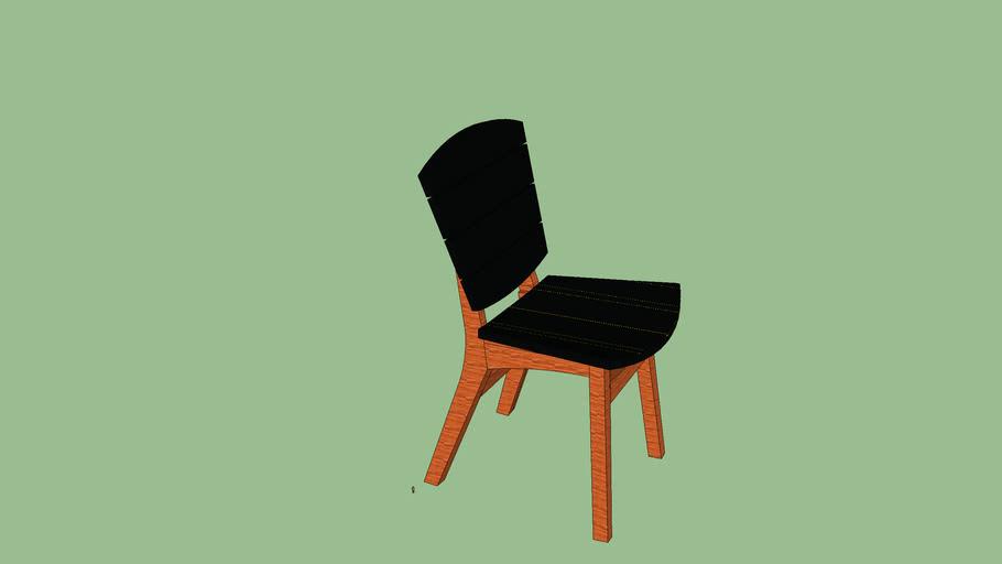 Cadeira Rio ACRÍLICO preta