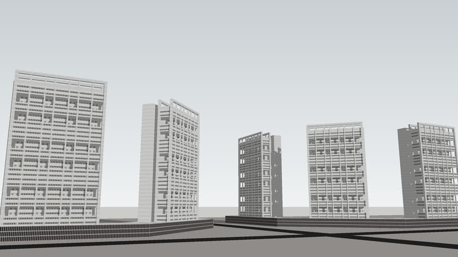 CITY/TOWN/DOWNTOWN/FLATS/HIGHRISE BUILDINGS/SKYSCRAPERS/BRUTALIST SOCIALIST STYLE/HOUSINGBLOCK/RO/SO