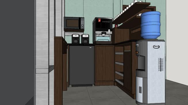 Office Mini Coffee Bar Kitchenette 3d Warehouse