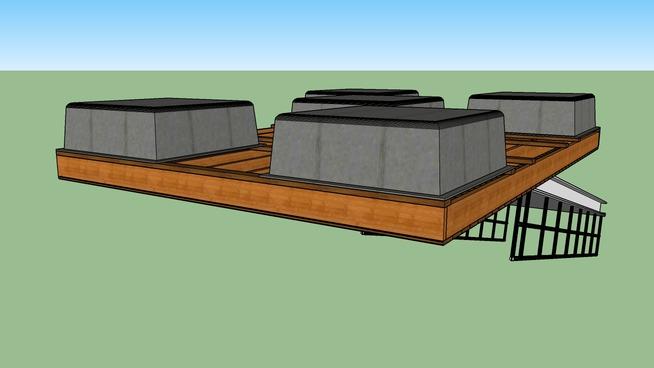 pontile galleggiante con passerella