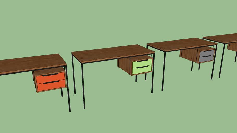 Escrivaninha Loft 2gaveta Pq - Fernando Jaeger