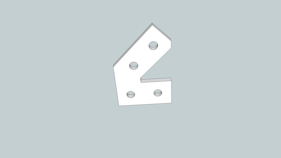 Makerbeam 45 deg bracket