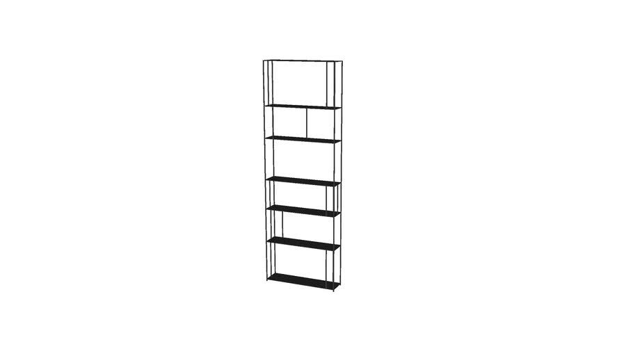 AMPM - Bibliothèque parallel Slim Noir