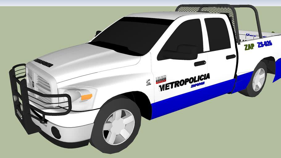 patrulla de la policia metropolitana de zapopan municipal