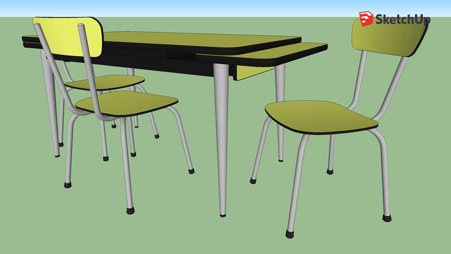 Table et chaise Formica