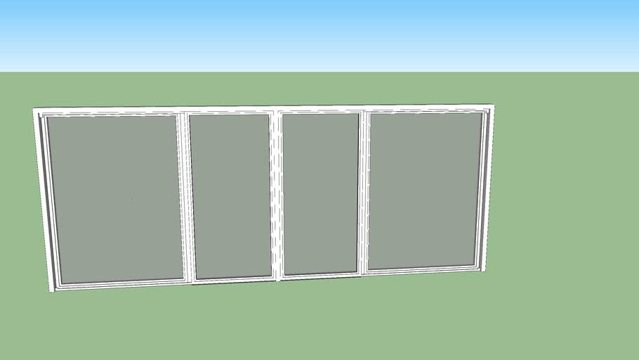 DC. Drzwi tarasowe 2 skrzydłowe przesuwne 500x200 cm