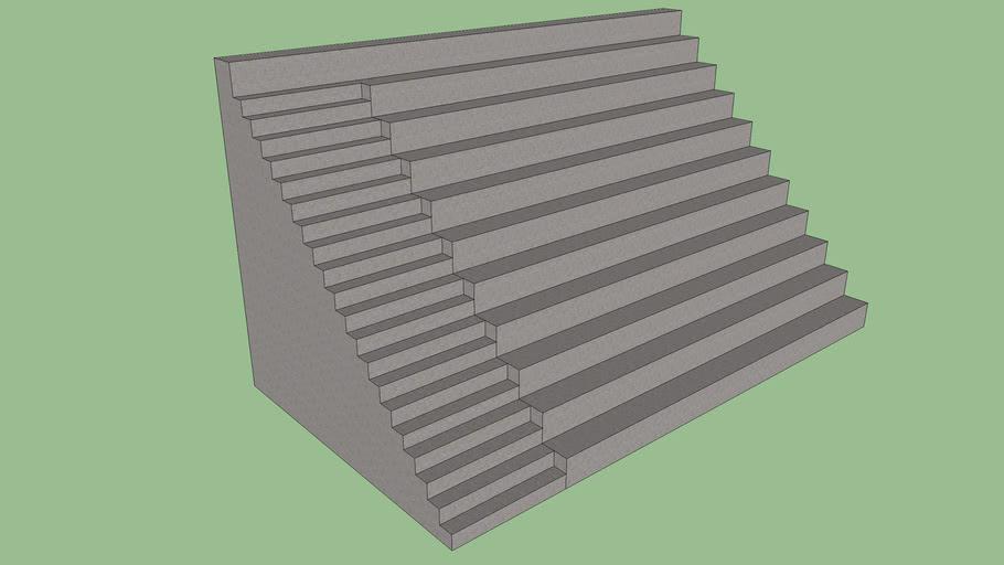 Concrete stadium bench