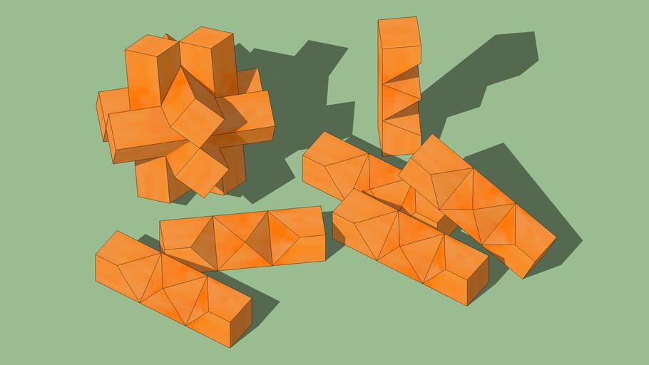 Puzzle de las seís diagonales