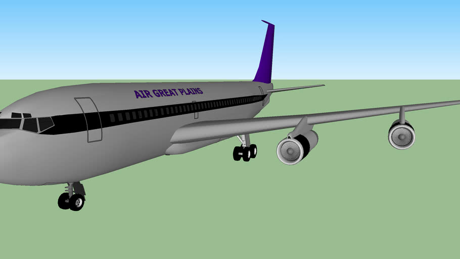 Air Great Plains Boeing 720B (fictional)