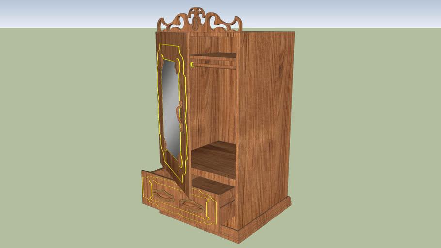 Fine oak wardrobe