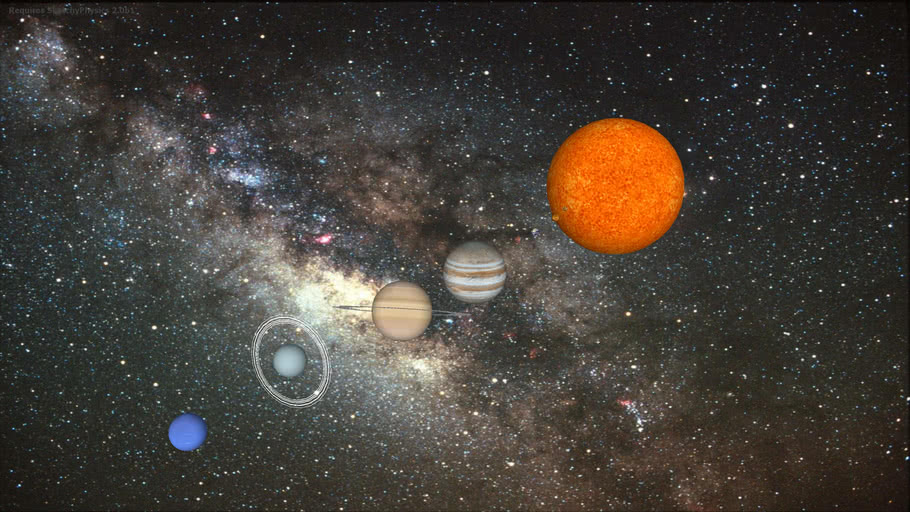 Solar System SketchyPhysics... The 8 Megnificent Light Bulbs