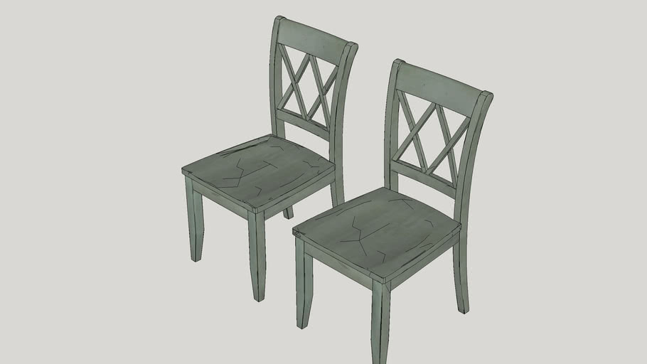 Castle Pines Side Chair in Antique Green