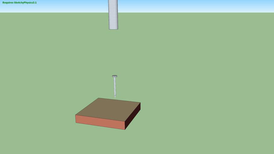 sketchyphysics hammer and nail