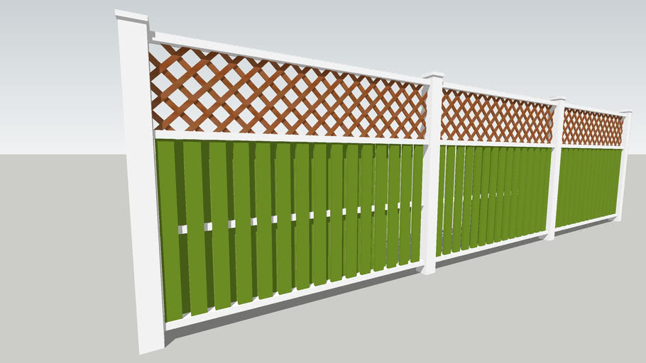 Wooden Latice Fence