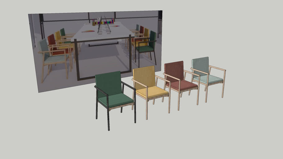 Colorful nordic modern dining chairs